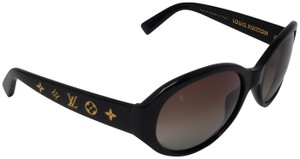 8a7993c142 Louis Vuitton Black acetate Louis Vuitton Obsession LV print round  sunglasses