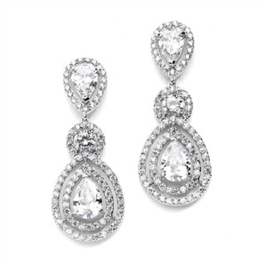 Silver Stunning Crystal Statement Event Earrings