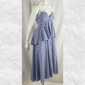 Blue White Maxi Dress by MILLY