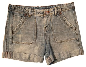 A|X Armani Exchange Cuffed Shorts blue jean