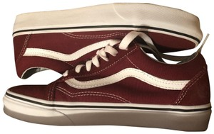Vans maroon and white Athletic