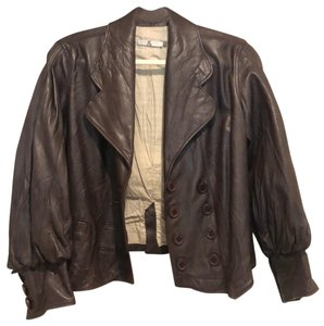 Mike & Chris brown Leather Jacket
