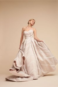 BHLDN Ivory Polyester; Polyester Lining Carlton Ballgown Style No.. 44418424 Modern Wedding Dress Size 0 (XS)
