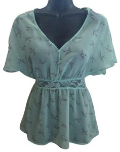 eebfc1041b7 Rue 21 Mint Swallow Bird Lace Spring Top Green