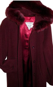 Marvin Richards Hooded Wool Wool Trench Coat