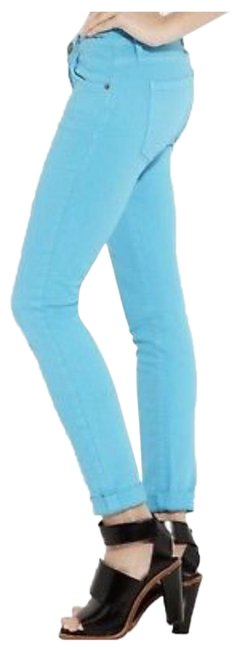 Item - Tahitian Blue Medium Wash The Rolled Skinny Jeans Size 4 (S, 27)