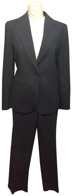 Item - Charcoal Grey Sz.6 Tropical Weight Wool Pant Suit Size 6 (S)