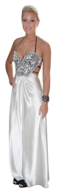 Item - Black and Silver Crystal Gown Long Formal Dress Size 0 (XS)
