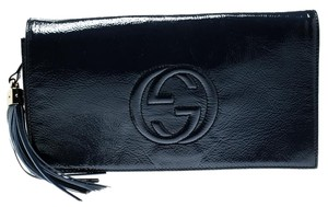 Gucci Leather Blue Clutch