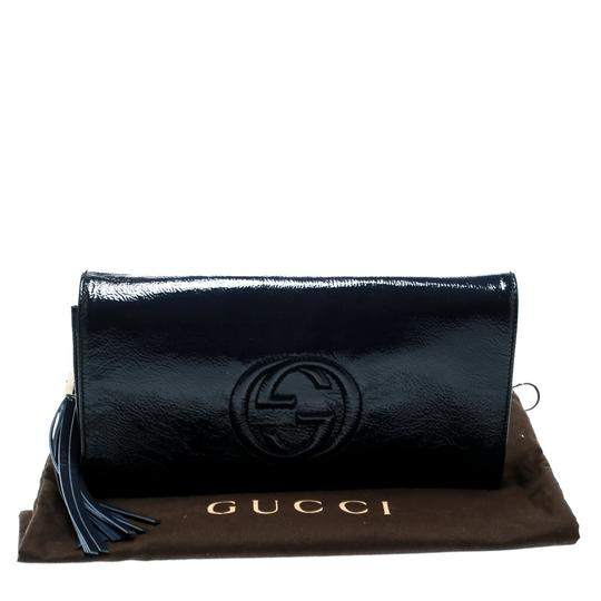 Gucci Leather Blue Clutch Image 11