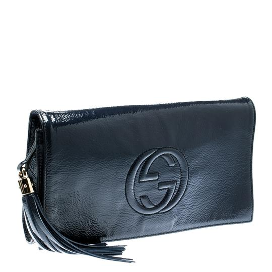 Gucci Leather Blue Clutch Image 3