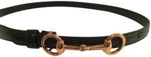 Gucci Gucci Horsebit Black Patent leather with Gold Hardware in Size 70