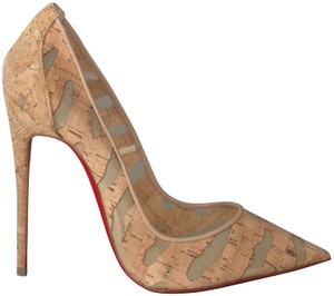 Christian Louboutin Red Sole With Box Beige Pumps
