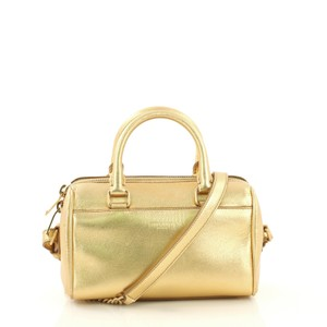 Saint Laurent Travel/Duffel Leather gold Travel Bag