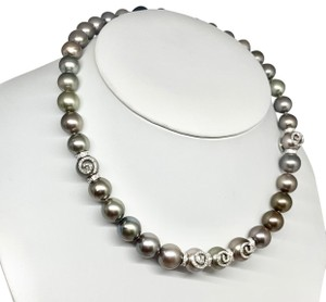 Estate CERTIFIED 14 950 South Sea Tahitian 16 In 18 Kt Pearl Necklace 910879