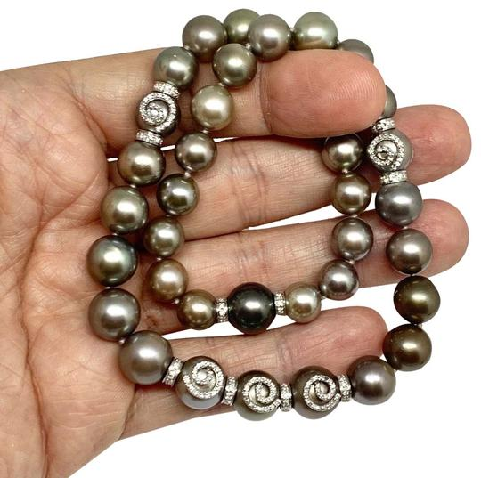Estate CERTIFIED 14 950 South Sea Tahitian 16 In 18 Kt Pearl Necklace 910879 Image 1