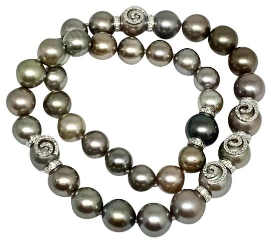 Estate CERTIFIED 14 950 South Sea Tahitian 16 In 18 Kt Pearl Necklace 910879 Image 2
