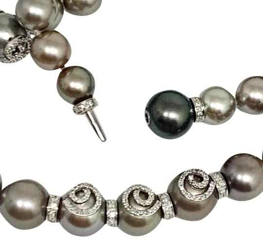 Estate CERTIFIED 14 950 South Sea Tahitian 16 In 18 Kt Pearl Necklace 910879 Image 4