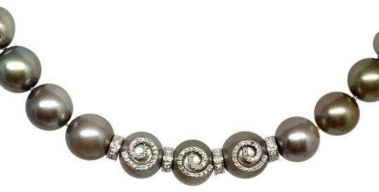 Estate CERTIFIED 14 950 South Sea Tahitian 16 In 18 Kt Pearl Necklace 910879 Image 6