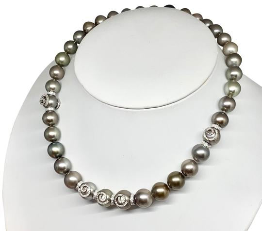 Estate CERTIFIED 14 950 South Sea Tahitian 16 In 18 Kt Pearl Necklace 910879 Image 7
