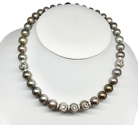 Estate CERTIFIED 14 950 South Sea Tahitian 16 In 18 Kt Pearl Necklace 910879 Image 8