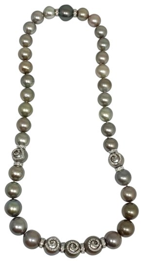 Estate CERTIFIED 14 950 South Sea Tahitian 16 In 18 Kt Pearl Necklace 910879 Image 9