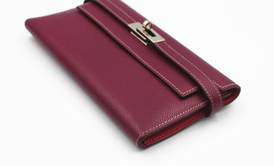 Hermès Epsom Kelly Longue Wallet Tosca with interior in Rose Tyrien Image 1