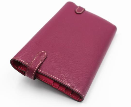 Hermès Epsom Kelly Longue Wallet Tosca with interior in Rose Tyrien Image 2
