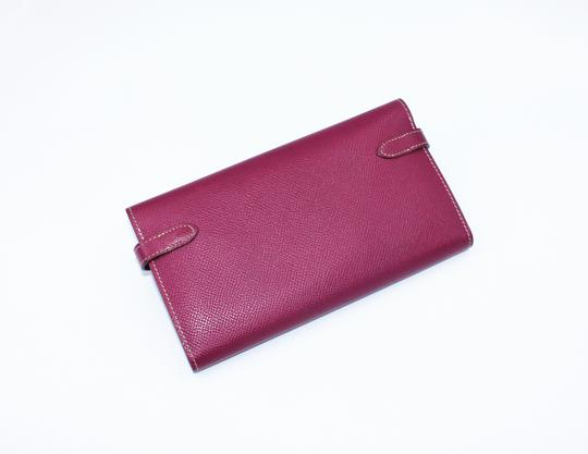 Hermès Epsom Kelly Longue Wallet Tosca with interior in Rose Tyrien Image 5