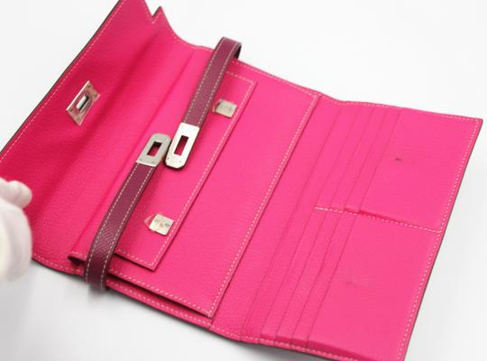 Hermès Epsom Kelly Longue Wallet Tosca with interior in Rose Tyrien Image 8