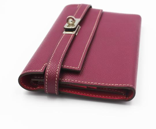 Hermès Epsom Kelly Longue Wallet Tosca with interior in Rose Tyrien Image 9