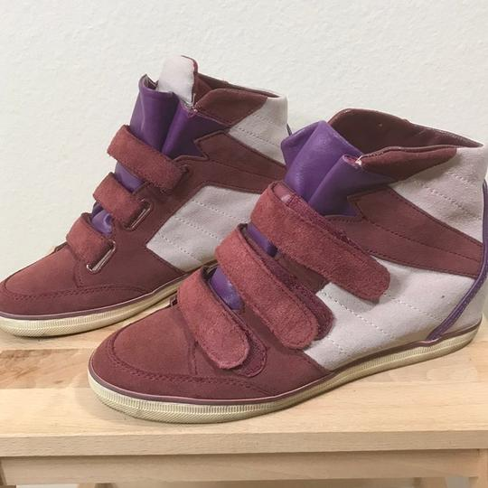Coach Wedge Sneaker Suede Leather Boots Image 1