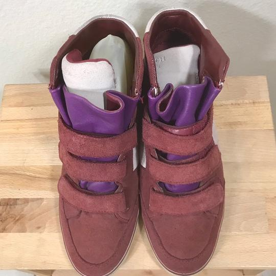 Coach Wedge Sneaker Suede Leather Boots Image 2