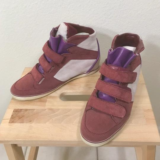 Coach Wedge Sneaker Suede Leather Boots Image 3