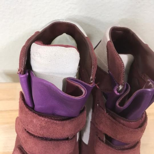 Coach Wedge Sneaker Suede Leather Boots Image 7