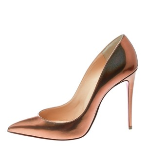 Christian Louboutin Bronze Leather Pigalle Pointed Toe Metallic Pumps