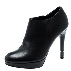Dior Leather Platform Ankle Black Boots