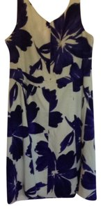 Jones New York short dress White / Purple Flowers Print on Tradesy