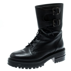 Dior Leather Black Boots