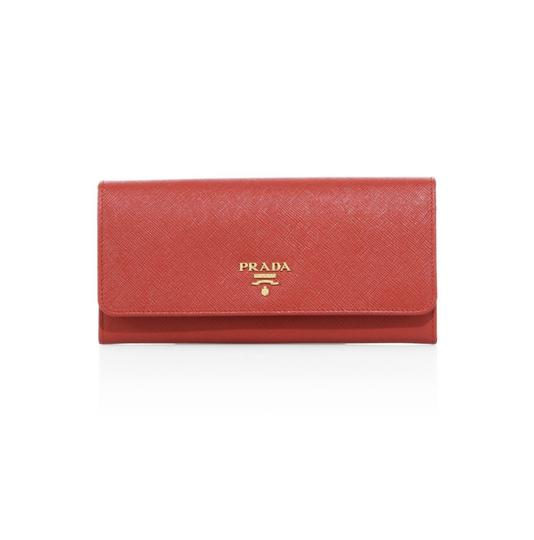 Prada Saffiano Leather Continental Flap Wallet Image 0