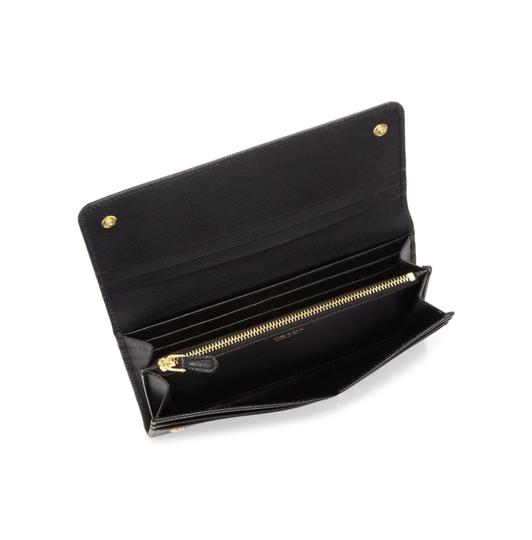 Prada Saffiano Leather Continental Flap Wallet Image 2