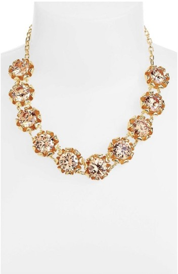 Tory Burch NEW 16K Gold Plated Leah Jeweled Short Necklace Image 2