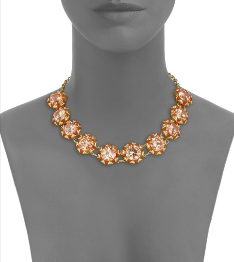 Tory Burch NEW 16K Gold Plated Leah Jeweled Short Necklace Image 3