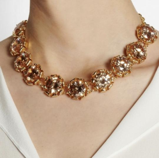 Tory Burch NEW 16K Gold Plated Leah Jeweled Short Necklace Image 4