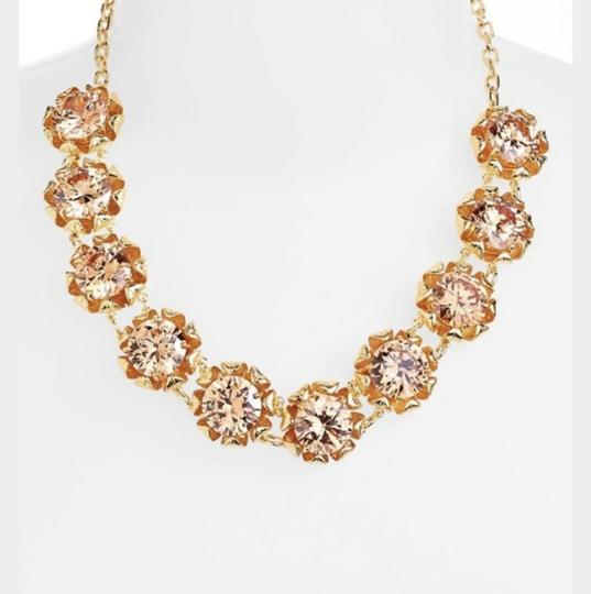 Tory Burch NEW 16K Gold Plated Leah Jeweled Short Necklace Image 5