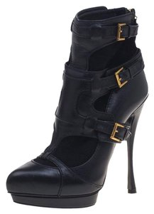 Alexander McQueen Leather Suede Black Boots
