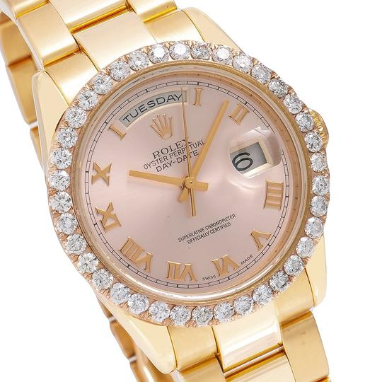Rolex Rolex Day-Date 118205 36MM Pink Dial With 3.50 CT Diamonds Image 2