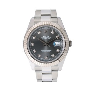 Rolex Rolex Datejust II 116334 41MM Gray Diamond Dial With Stainless Steel