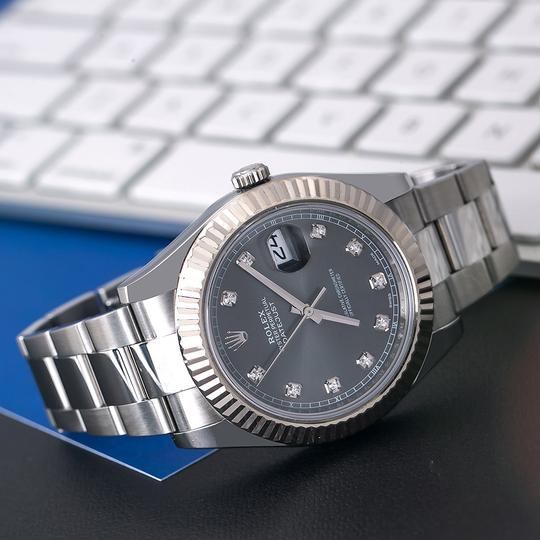 Rolex Rolex Datejust II 116334 41MM Gray Diamond Dial With Stainless Steel Image 1