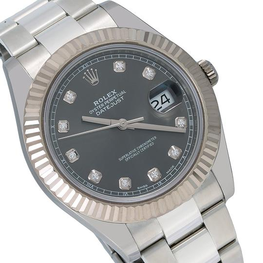 Rolex Rolex Datejust II 116334 41MM Gray Diamond Dial With Stainless Steel Image 2